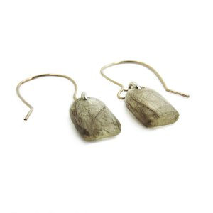 Cremation earrings with sterling silver hooks