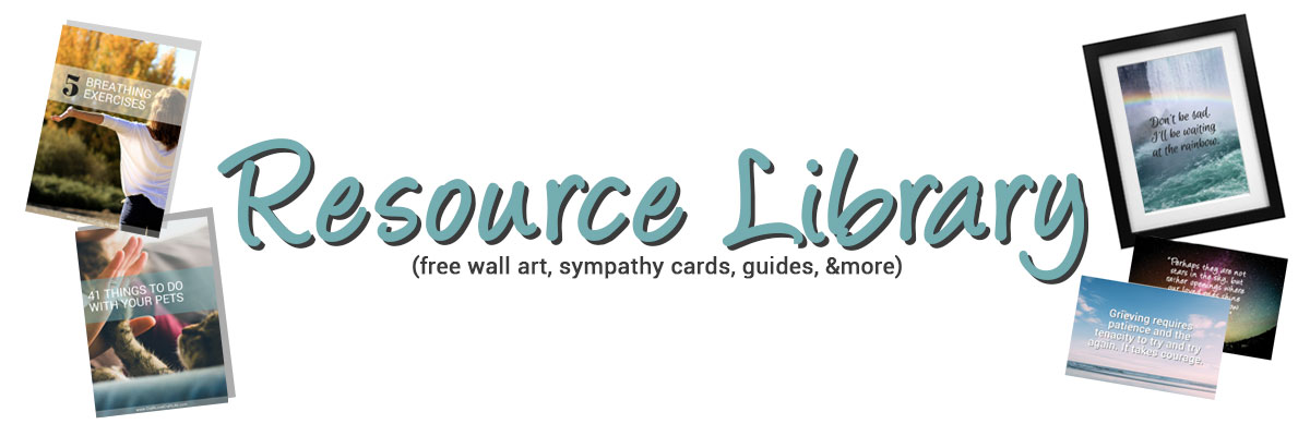 grief support resource library