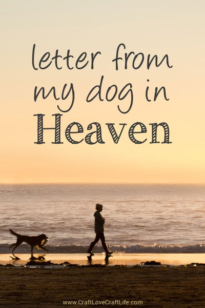 letter from my dog in heaven