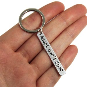 Adopt Don't Shop keychain custom to your pet's name