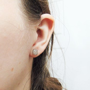 8mm memorial earrings with sterling silver posts