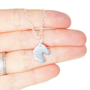 Handmade horse charm necklace