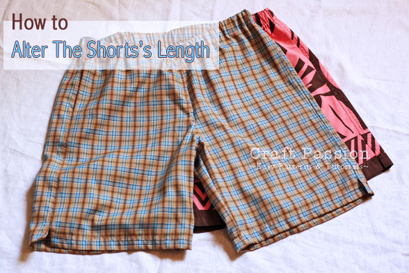 altering sewing pattern for shots length
