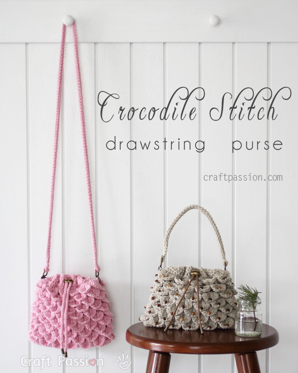 crocodile stitch purse crochet pattern