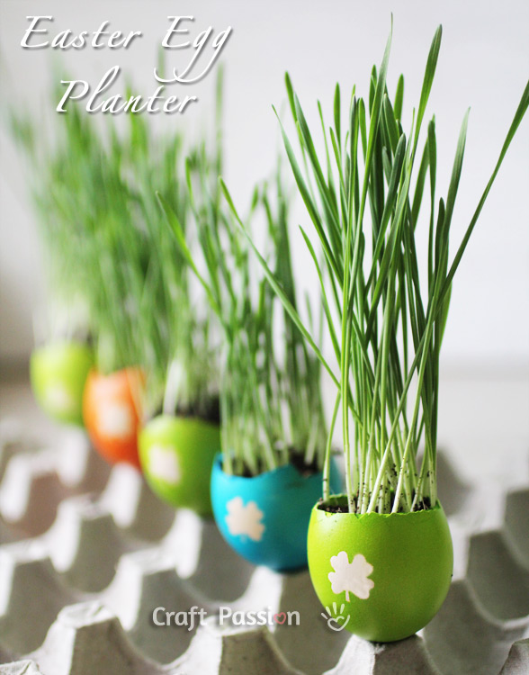 Make Colorful DIY Easter Egg Planter