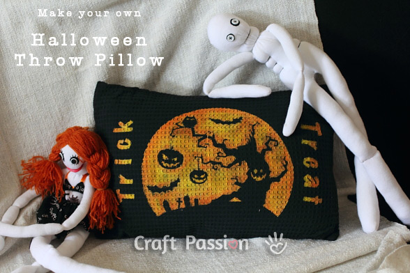 halloween throw pillow pattern