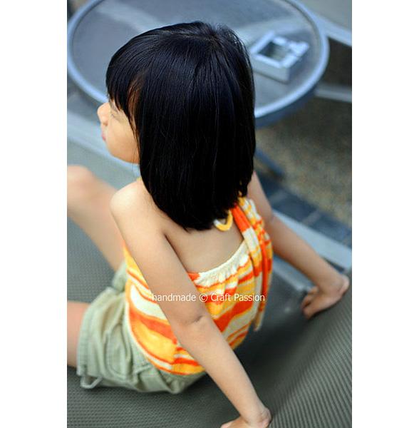 bareback haltered neck top pattern