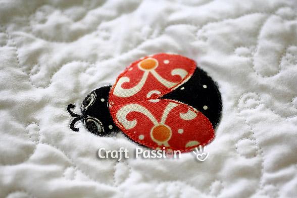 ladybugs applique pattern