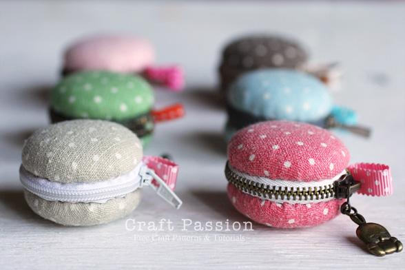 sew macaron coin purse