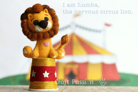 circus lion felt