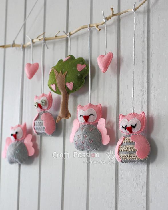 owl nursery mobile