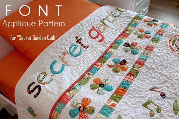 Secret Garden Font Applique Free Pattern Craft Passion