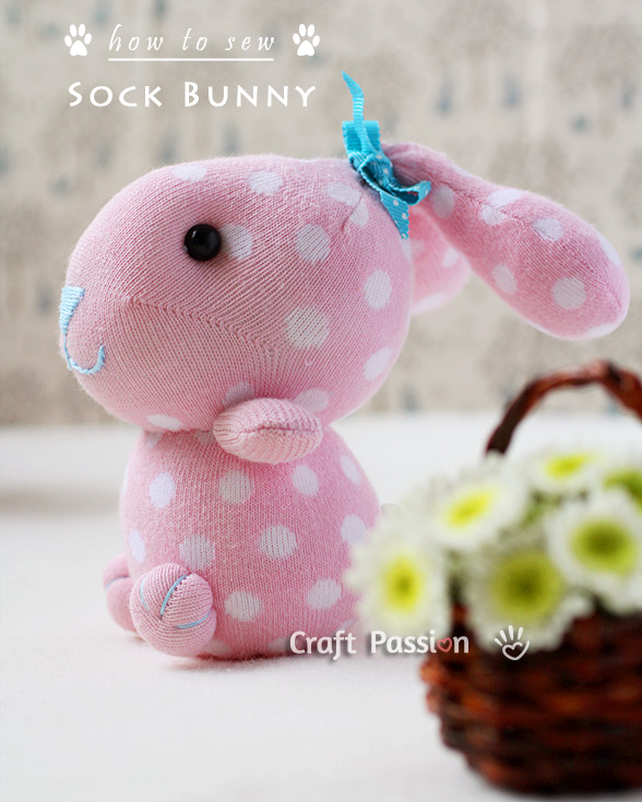 Sock Bunny Free Sewing Pattern Tutorial Craft Passion