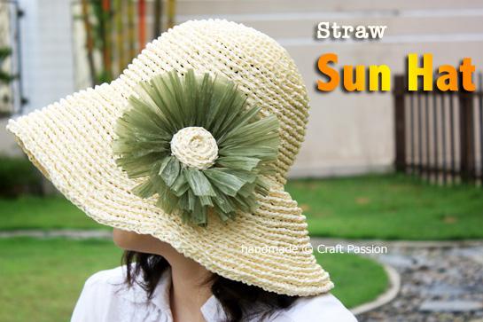 Sun Hat Raffia Free Crochet Pattern Tutorial Craft Passion
