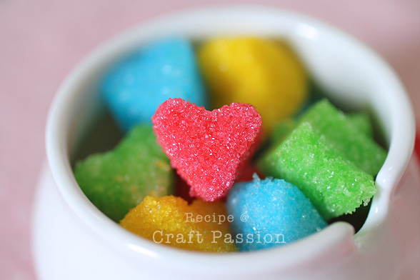 heart shaped sugar cubes
