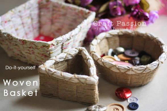 Плетение корзин - в геометрической формы