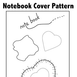 Note Book Cover Pattern Tutorial