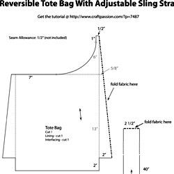 Paper Pattern For Reversible Tote Bag