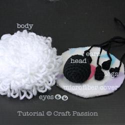 Sheep Amigurumi Parts