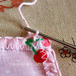 make lace trim on handkerchief