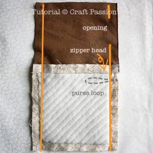 sew purse sides with opening
