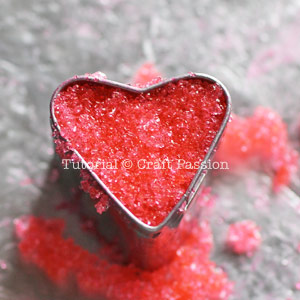 make heart shaped sugar cube