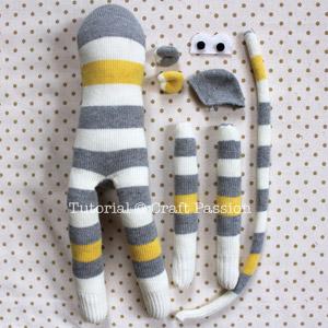 sock monkey parts