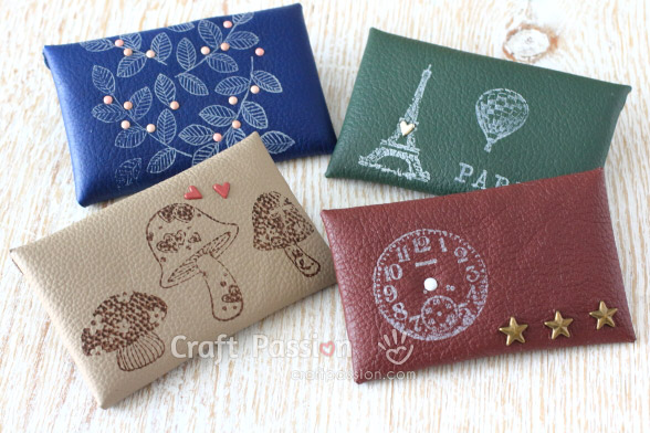 no-sew leather coin purse