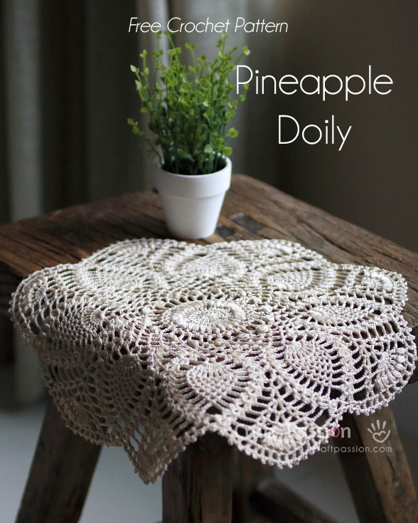 Pineapple Doily Free Crochet Pattern Craft Passion