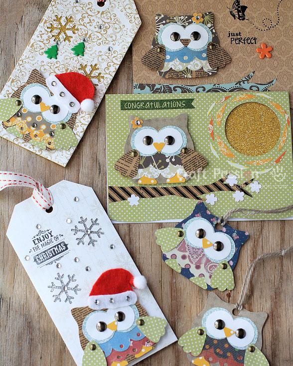 owl pattern scrapbooking