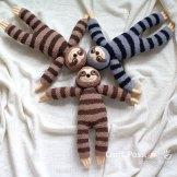 sock sloth plushie