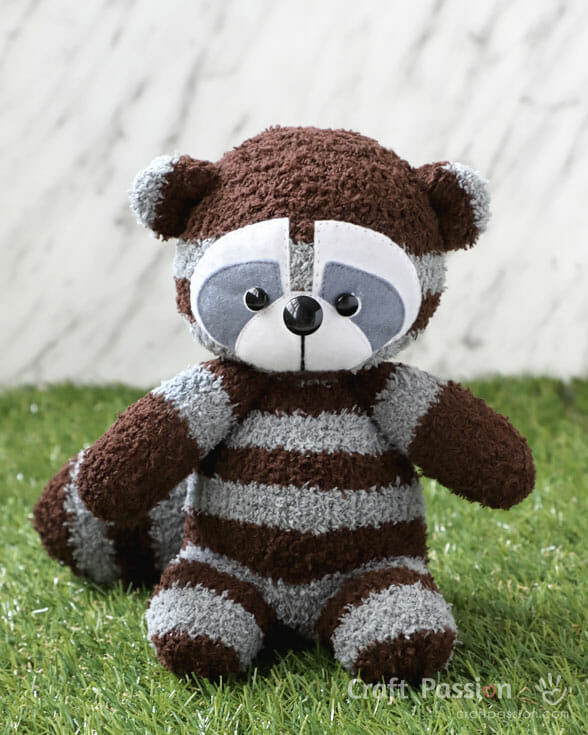 sock raccoon plushie