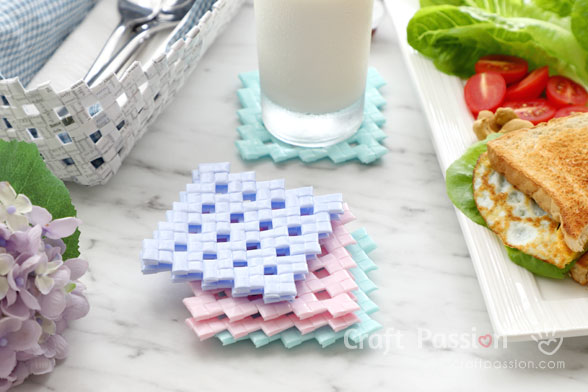 coasters made from straw