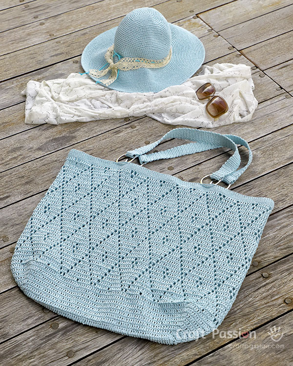 oversized tote hat crochet pattern