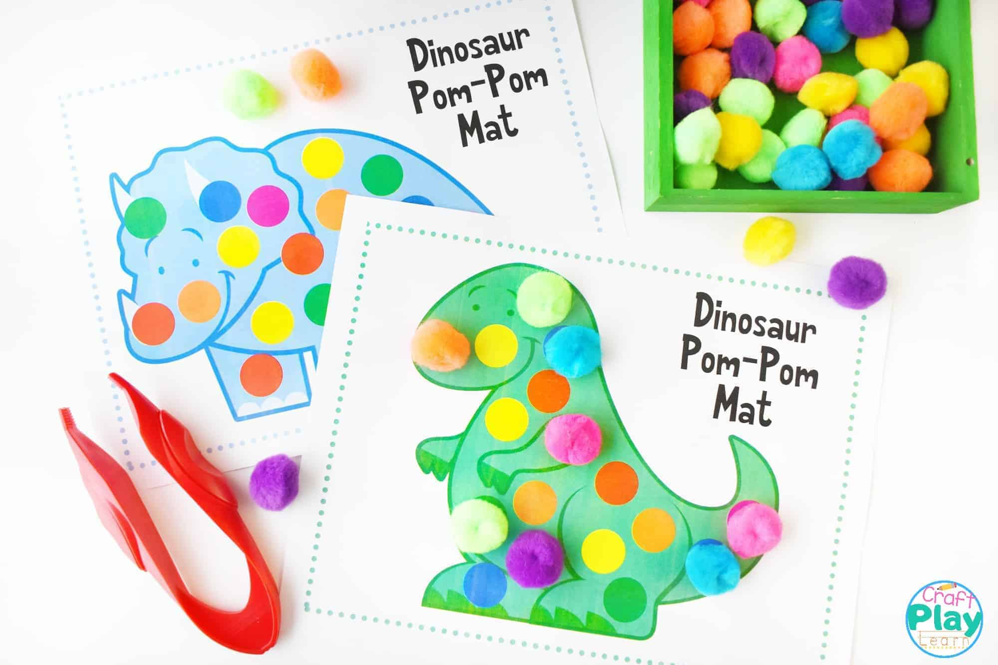 Dinosaur Color Matching Mats For Preschool Kids