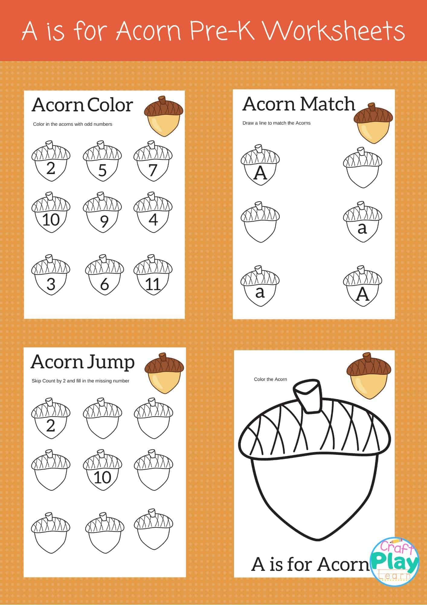 Letter A Worksheets For Preschool Kids