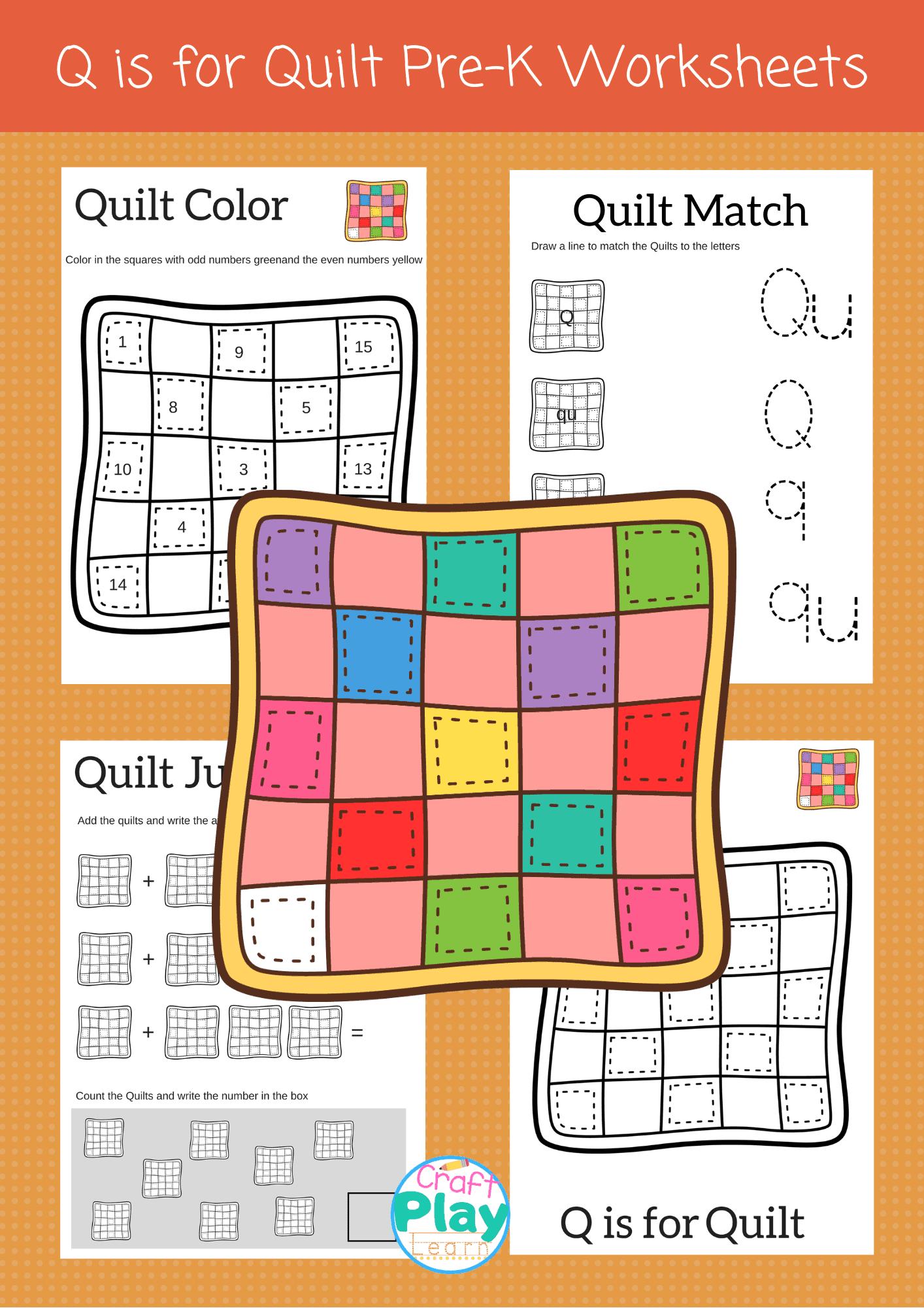 Letter Q Worksheets For Preschool Kids
