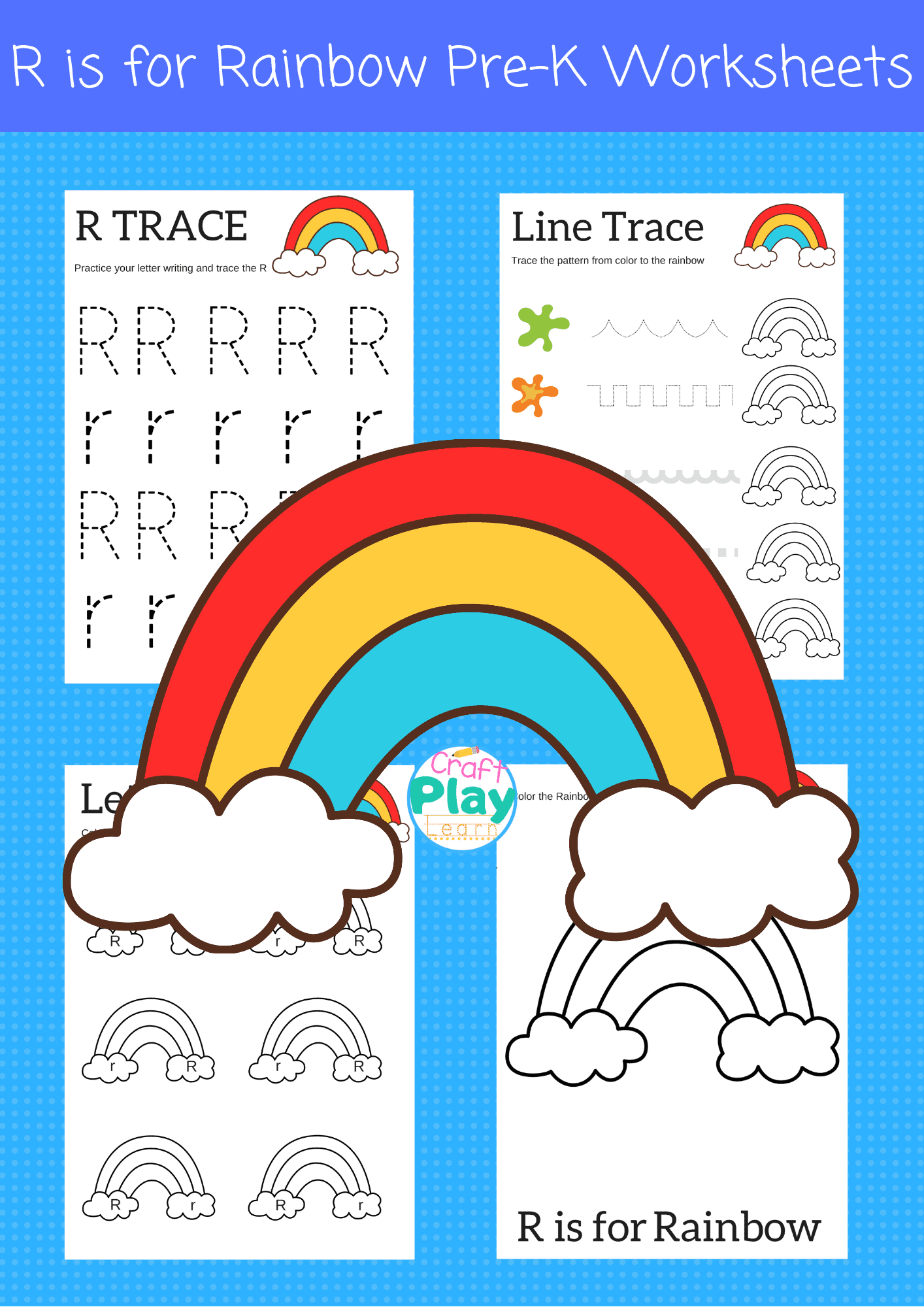 Letter R Worksheets For Preschool Kids