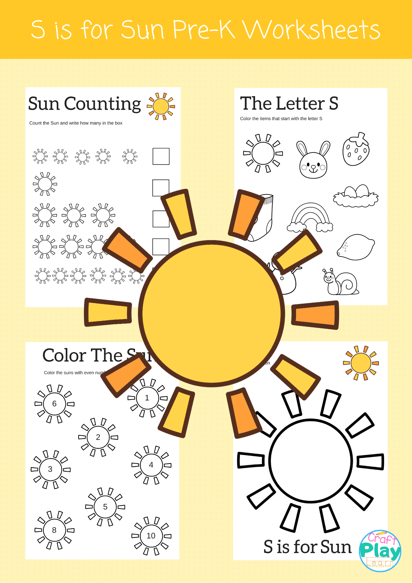 Letter S Worksheets For Preschool Kids