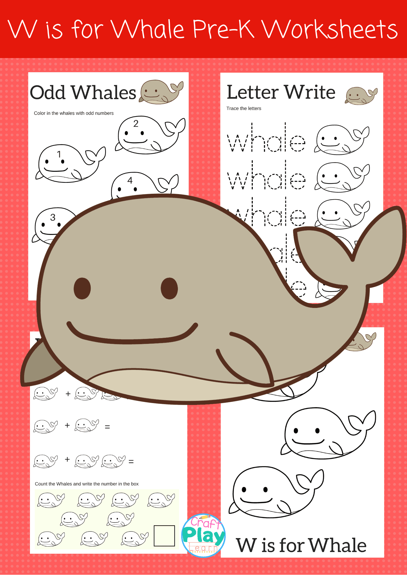 Letter W Worksheets For Preschool Kids