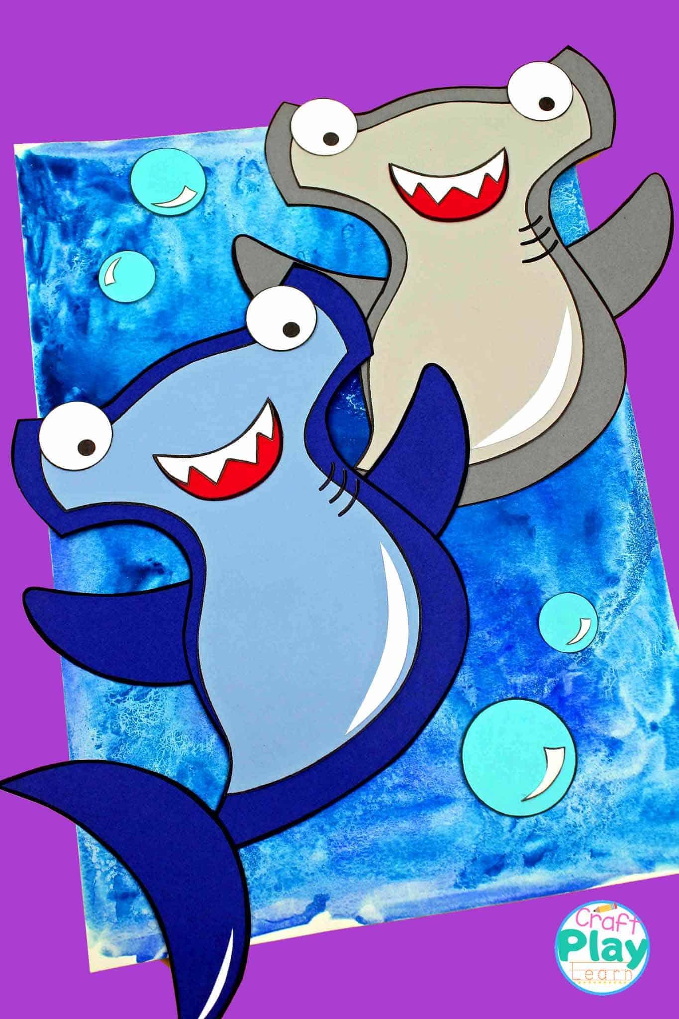 Hammer Head Shark Craft Preschool Kids Will Love