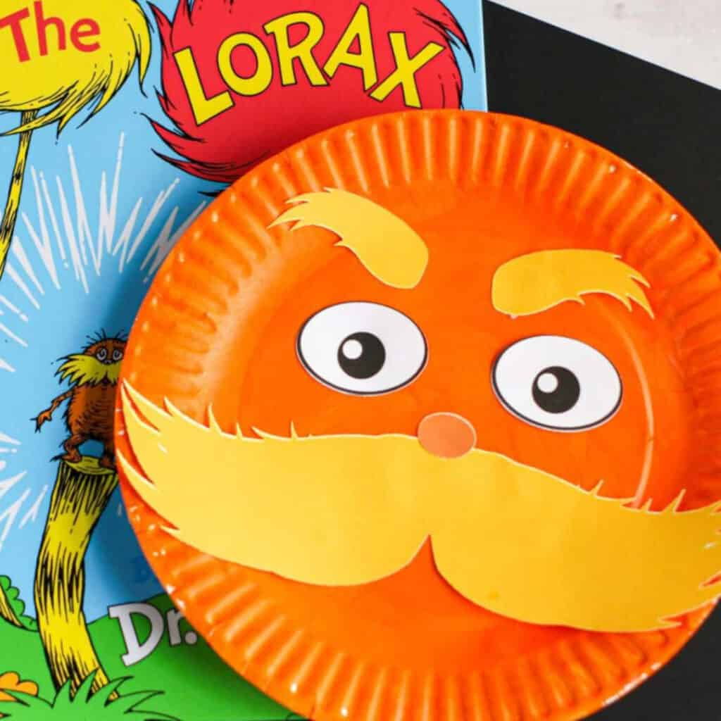 Lorax Paper Plate Craft For Dr Seuss Fans