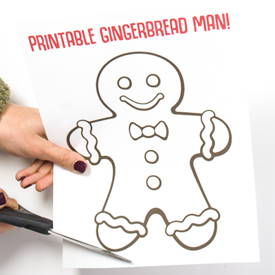 Gingerbread Man Printable Craft Project Ideas