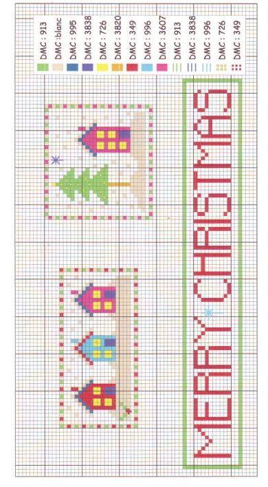 Christmas Hanger Cross Stitch Chart Free Card Making