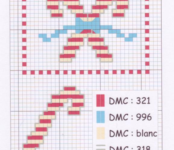 Candy Cane Cross Stitch Chart Free Card Making Downloads