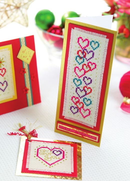 Sentiment Cross Stitch Cards Free Card Making Downloads