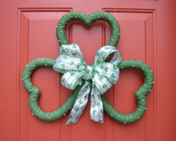 shamrock wreath