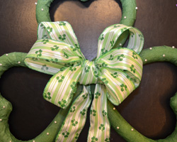 wreath bow