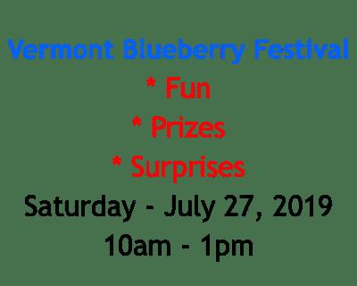 Vermont Blueberry Festival - Craftsbury Farmers Market