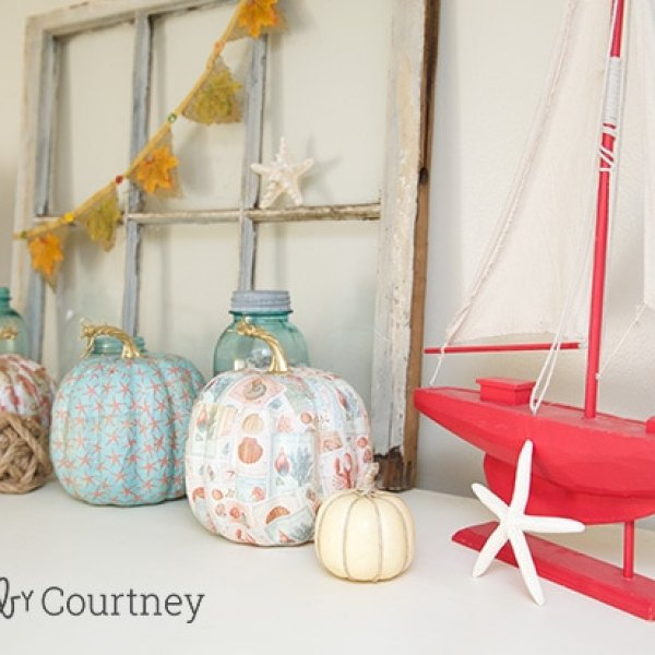 Mantel Ideas for Fall: Coastal Style!! Crafts by Courtney http://www.craftsbycourtney.com/fall-coastal-theme-home-tour/